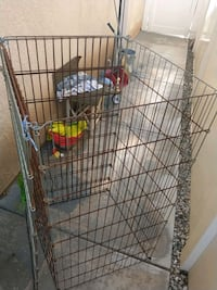brown metal wire pet cage Moreno Valley, 92555