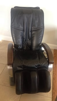 black leather office rolling chair Delta, V4C 6G8