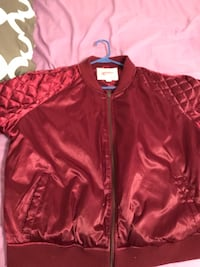 Red bomber jacket size 2x