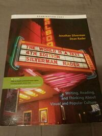 THE WORLD IS A TEXT !! 4TH EDITION BY SILVERMAN Toronto, M9B 5S7