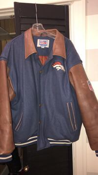blue and brown button-up letterman jacket Wyomissing, 19610