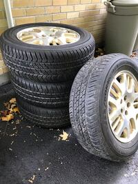 Set of Four Winter Tires on Rims 225/50/R17 Middlesex Centre, N0L 1R0