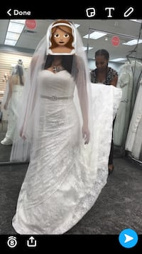 Full lace David's bridal wedding gown Dumfries, 22025