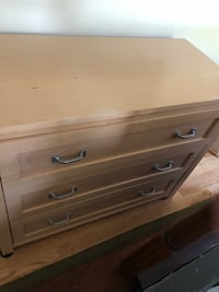 Natural wood dresser matching end table East Moriches, 11940