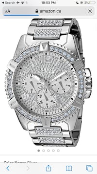 AUTHENTIC ICY GUESS WATCH