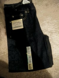 Faded glory straight leg jeans size 10