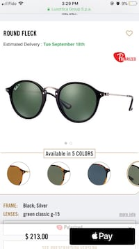Round Fleck Ray Ban sunglasses Montreal