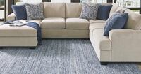 gray suede sectional sofa with throw pillows Edmonton, T6W 3H1