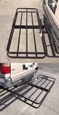 New in box XL larger 64x45x4 inches 2 inch receiver mount hitch mount travel luggage basket rack 500 lbs capacity with pin   Whittier, 90605