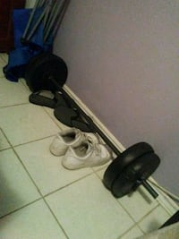black and gray barbell and dumbbells Mississauga, L4Y 3B3