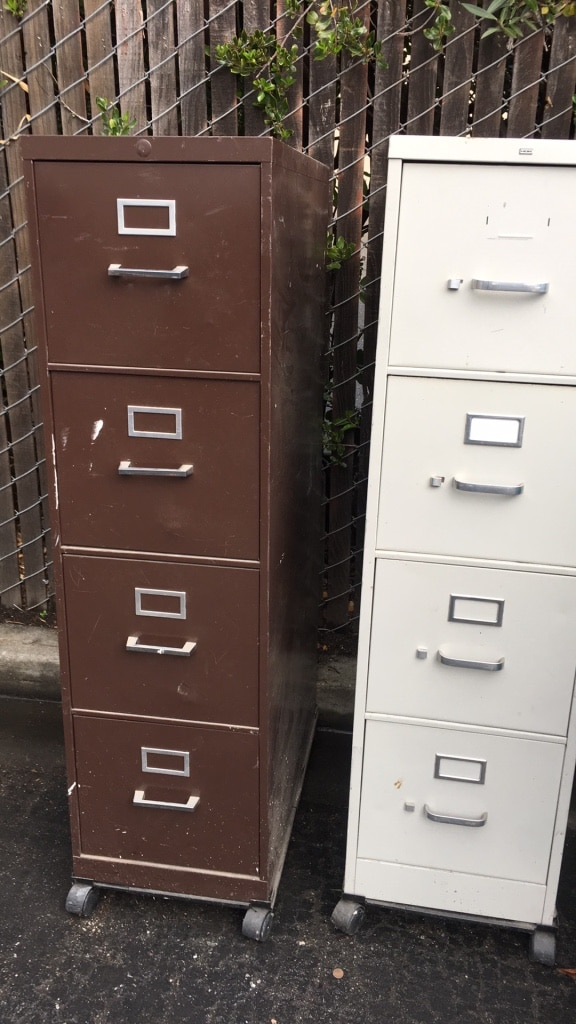used two white and black 4 drawer filing cabinets for sale in santa rh ca letgo com