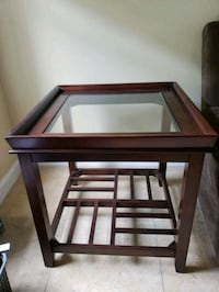 brown wooden framed glass top table Orlando, 32837