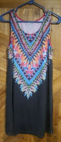 black, blue, and pink floral sleeveless dress Eau Claire, 54703
