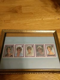 princess Diana tribute stamps with certificate Stafford, 22554