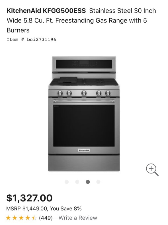 Ordinaire Used Kitchenaid Stainless Steel Stove For Sale In Chicago   Letgo
