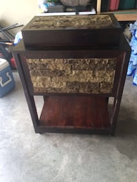 Wooden cooler with Stone