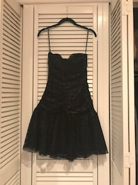 Black Betsey Johnson Lace Strapless Dress