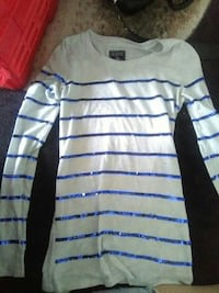 white and blue striped long-sleeved shirt Spokane, 99207