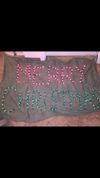 Merry Christmas sign that lights up and can be hanged from window or door Laurel, 20723