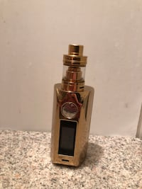 Gold-colored variable mod kit with atomizer