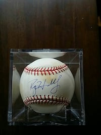 Roy Halladay signed game used baseball Perkasie, 18944