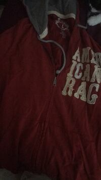 red and white Hollister pullover hoodie Alexandria, 22304