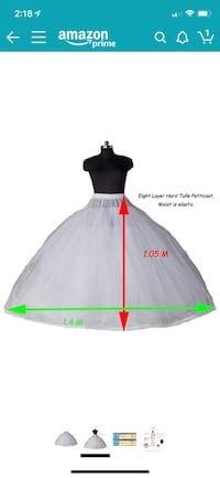 8 Layer Tulle ball gown petticoat