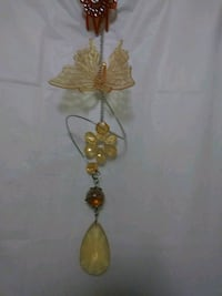 beaded yellow and brown hanging decoration Long Beach, 90806