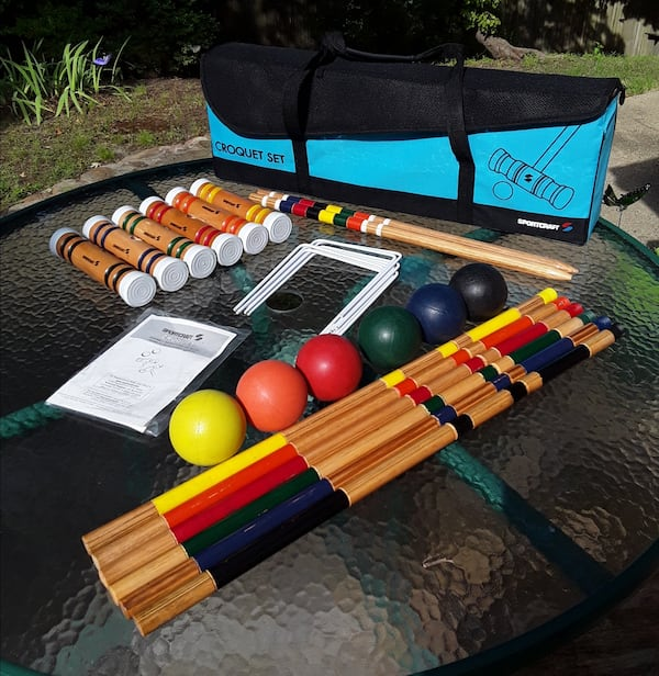 Sportcraft Portable 6-Player Croquet Set - Like New Condition 93cfdbc4-692d-4632-be87-5d15d0053e85