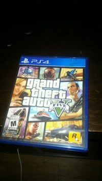 Grand Theft Auto Five PS4 game case Winnipeg, R3C 1N1