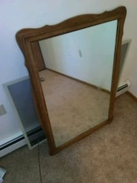 rectangular brown wooden framed mirror Red Wing, 55066