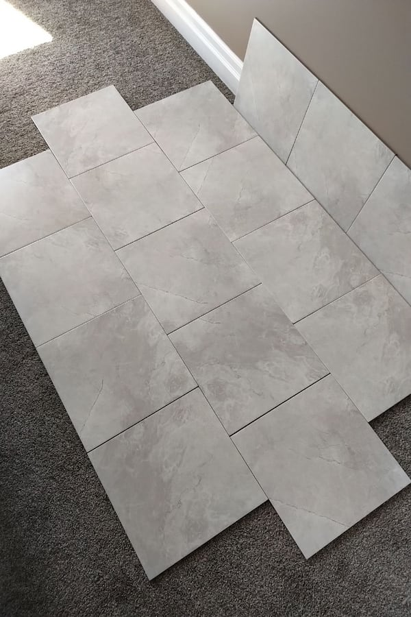 Brand New 13 x 13 White Porcelain Tiles  1e40a4a3-a985-4239-8807-877a79a71a61