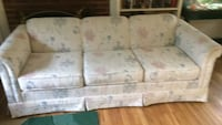 white and gray floral 3-seat sofa Falls Church, 22046