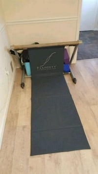 black and blue folding table