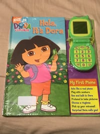 Dora the explorer book with toy phone new New York, 11385