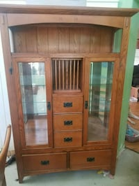 brown wooden cabinet with cabinet Vista, 92081