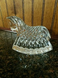 Waterford full lead crystal rocking horse.