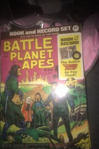 Battle for the planet of the apes 1974 comic book and record set