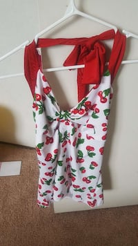 red cherry printed v-neck (xl) fits like large  Calgary, T2P