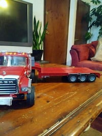 toy trucks. hauler and cement truck