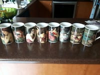 six assorted ceramic beer steins Laval, H7M 4T6