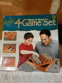 PEWTER & WOOD 4 game set limited edition Portland, 97236