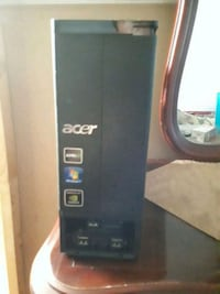 black Acer computer tower