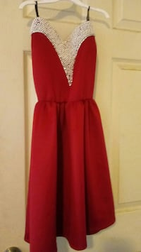 women's red and silver sweetheart dress Los Angeles, 90001
