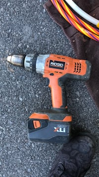 orange and black Ridgid cordless hand drill Barrie, L4N 4H4