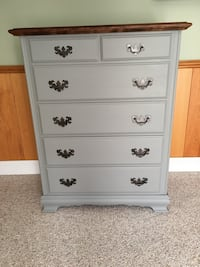 Gray newly refinished dresser Bel Air, 21015