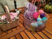 Easter ceramic candy dish and Easter basket Nokesville, 20181