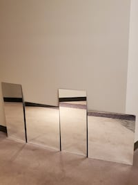 4 MIRROR WALL PANELS - firm price.