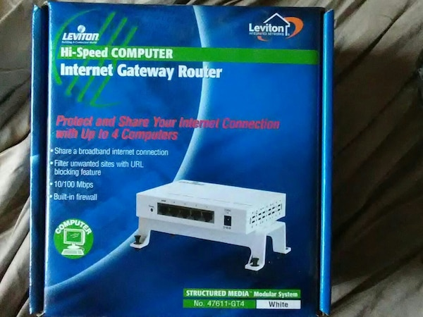 Leviton internet gateway router box