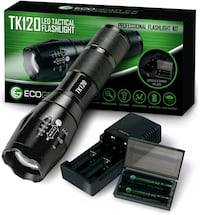 Complete LED Tactical Flashlight Kit - EcoGear FX TK120